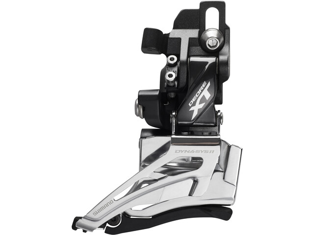Shimano Deore XT FD-M8025 Desviador 2x11 velocidades Direct Mount Top Pull, black/silver